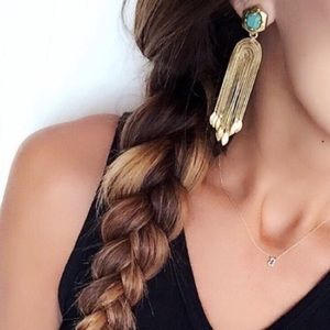 ::Stella & Dot [2in1] Exotic Odeon Earrings